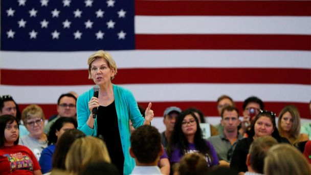 Warren pitches executive orders on race and gender pay gap