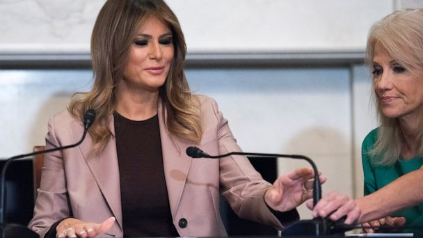 First lady speaks on opioids in only solo trip to Congress