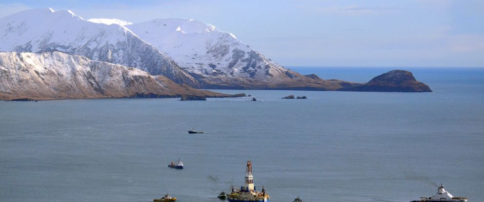 FILE - This Jan. 7, 2013 file photo shows the floating drill rig Kulluk in Kodiak Island, Alaskas Kiliuda Bay as salvage teams conduct an in-depth assessment of its seaworthiness. The House has approved legislation that would permanently bar drillin