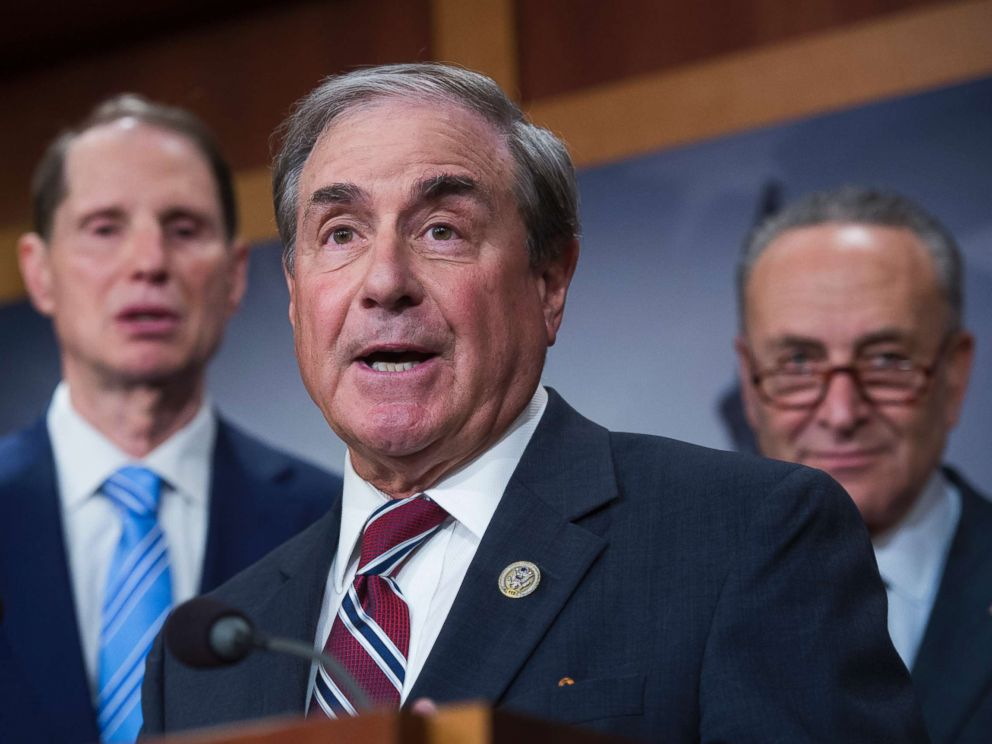 PHOTO: Rep. John Yarmuth, D-Ky. speaks during a news conference at the Capitol against Republicans tax and budget plan, Oct. 4, 2017.