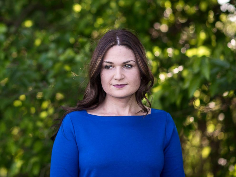 PHOTO: Democratic candidate Abby Finkenauer stands for a portrait on her parents property in Dubuque, Iowa, June 4, 2018.