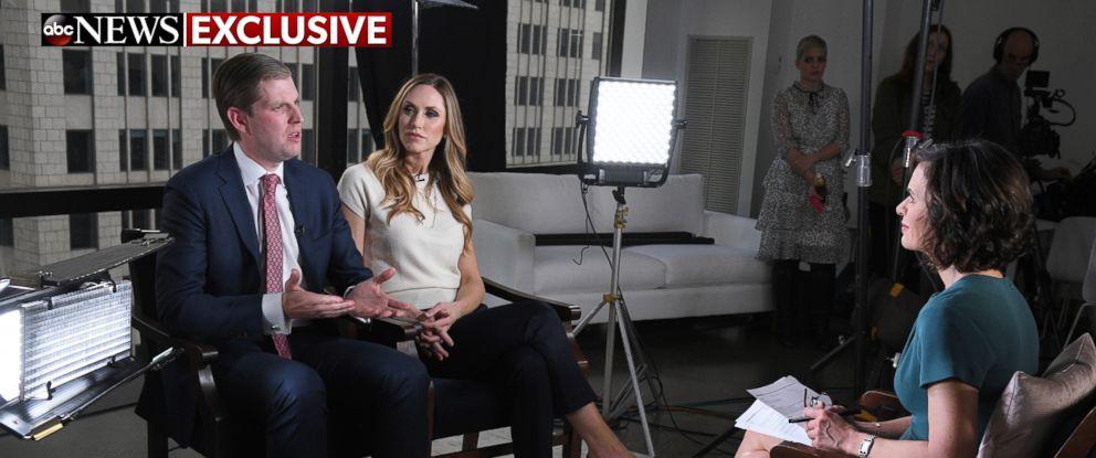 PHOTO: ABCs Elizabeth Vargas interviews Eric Trump at Trump Tower, New York on Monday, Jan. 16, 2017.