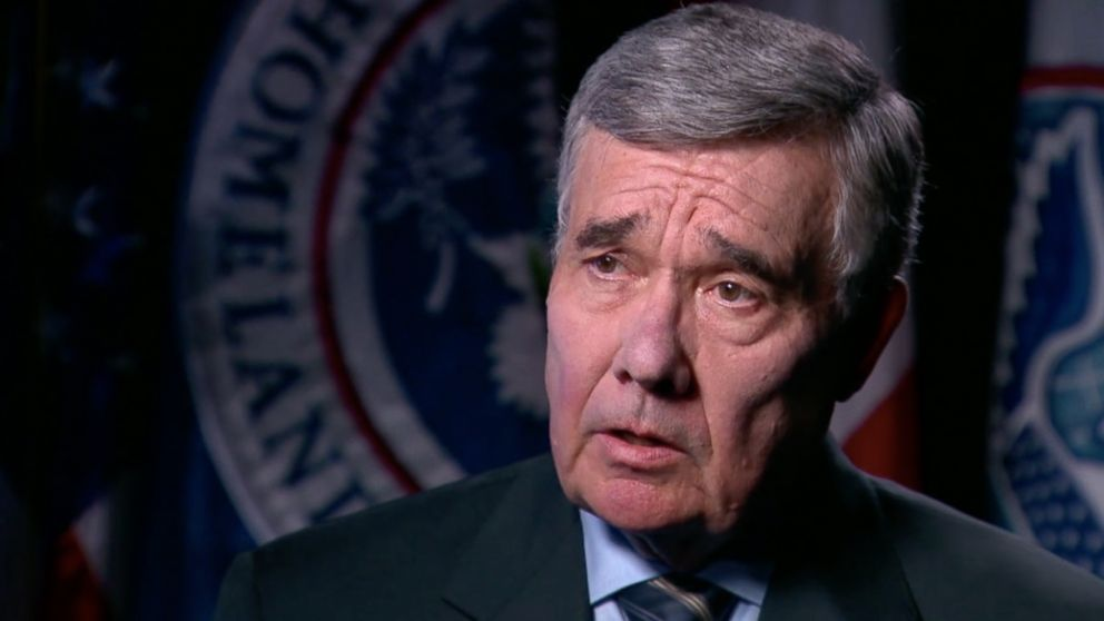 Gil Kerlikowske, the commissioner of Customs and Border Protection during the Obama Administration, seen in an interview with ABC News on Jan. 17, 2017.