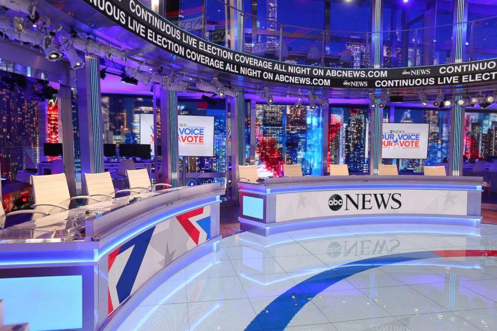 PHOTO: ABC News election coverage starts at 8 p.m., Nov. 6, 2018.