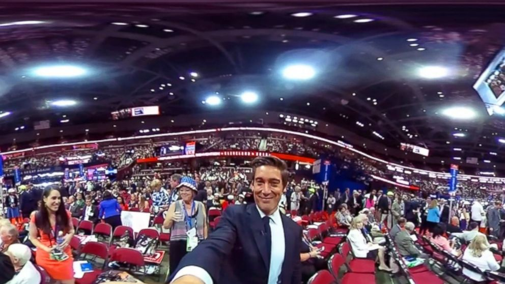 ABC's World News Tonight anchor David Muir on the floor of the Republican National Convention in Cleveland, July 19, 2016.