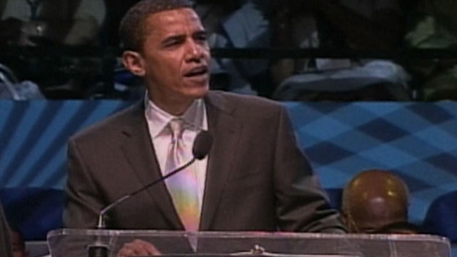 PHOTO:Screen grab of then-Senator Barack Obama making a speech in June 2007 at Hampton University in Virginia. In the speech, Obama praised Rev. Jeremiah Wright, and suggested the federal government discriminated against the victims of Hurricane Katrina.