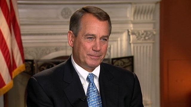 """PHOTO:House Speaker John Boehner is interviewed on """"This Week."""""""