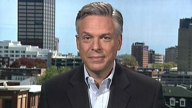 "PHOTO: GOP presidential candidate Jon Huntsman is interviewed on ""This Week."""