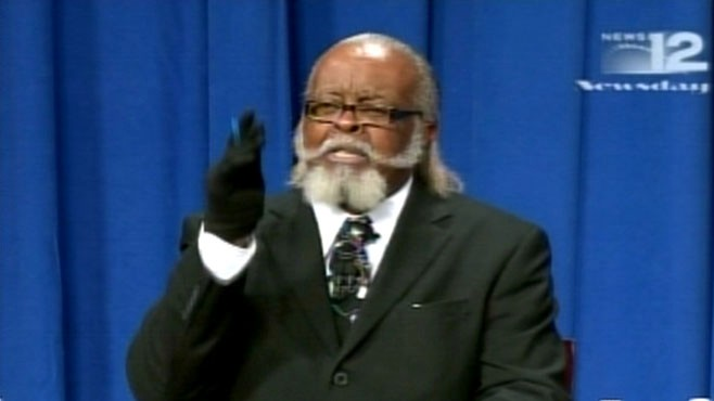 VIDEO: Jimmy McMillan of the Rent 2 is Damn High party appears at gubernatorial debate.