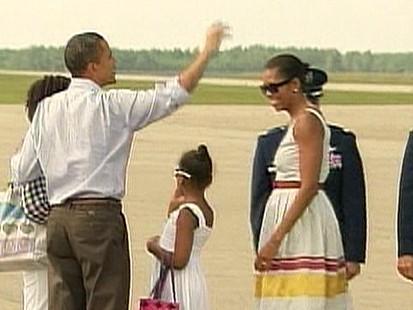 VIDEO: Foul Weather Foils Obamas Vacation Plans