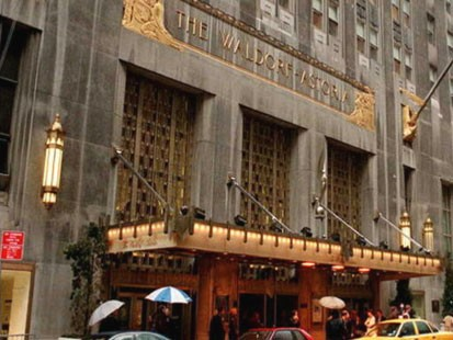 VIDEO: President Obama, like many other heads of state, picks the Waldorf Astoria when in New York.