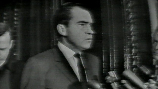 VIDEO: Richard Nixon reacts to the death of President Kennedy.