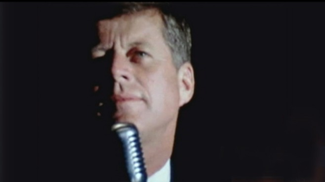 VIDEO: Silent film shows President Kennedy in Houston the night before assassination.