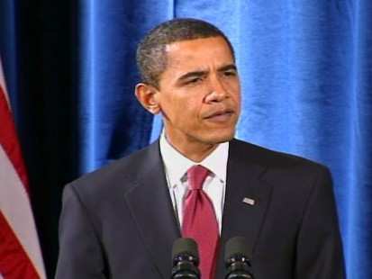 """Video of President-elect Barack Obama during a Chicago press conference to announce his """"green team."""""""
