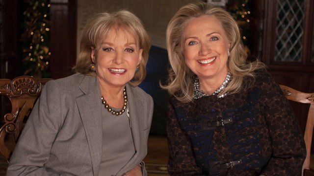 "PHOTO: ""Barbara Walters Presents: The 10 Most Fascinating People of 2012,"" will air as a 90 minute-long ABC News special featuring Hillary Clinton airing Dec. 12, 2012 on ABC."