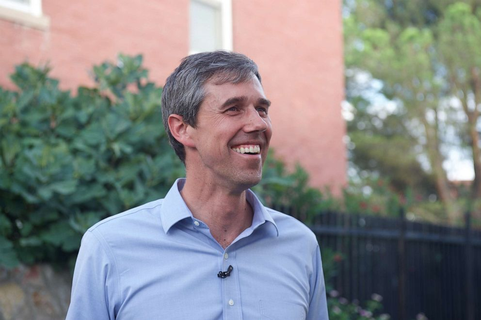 2020 Democratic presidential candidate Beto ORourke outside his home in El Paso, Texas, for Nightline.