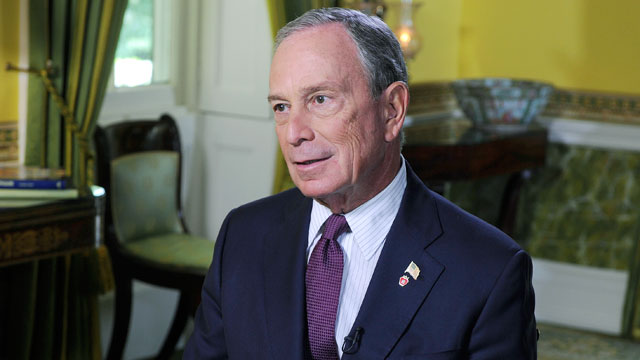 PHOTO:This Week anchor Christiane Amanpour speaks with New York City Mayor Michael Bloomberg.