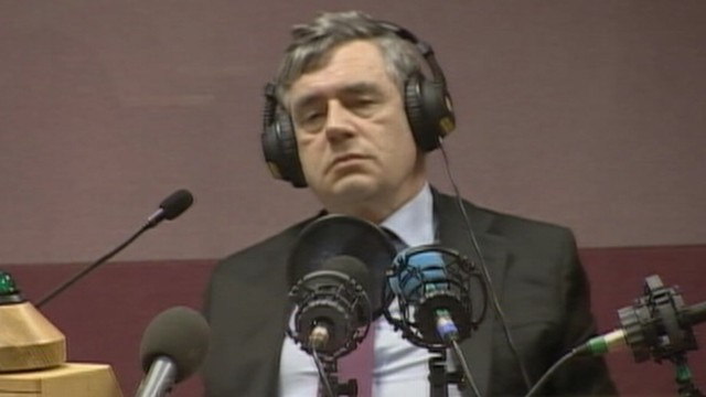 VIDEO: Prime Minister Gordon Brown is caught calling an elderly woman 'bigoted.'