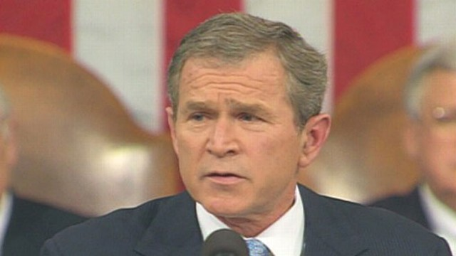 VIDEO: President Bush delivers the State of the Union Address in 2002.