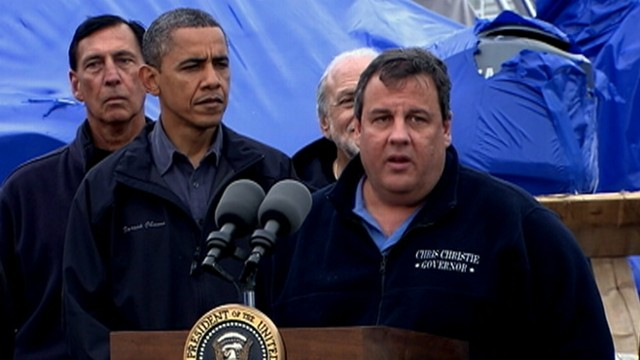 VIDEO: N.J. governor attacks the president in 2011, but praises him in 2012 for his response to the storm.