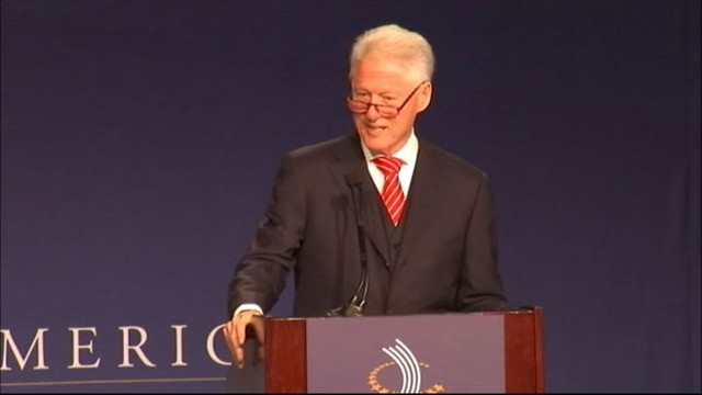 VIDEO: Former president hosts conference in Chicago to reduce Americas job deficit.