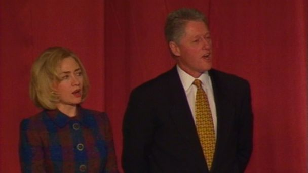 "VIDEO: Bill and Hillary Clinton sing ""Amazing Grace"" at the 1997 National Prayer Breakfast."