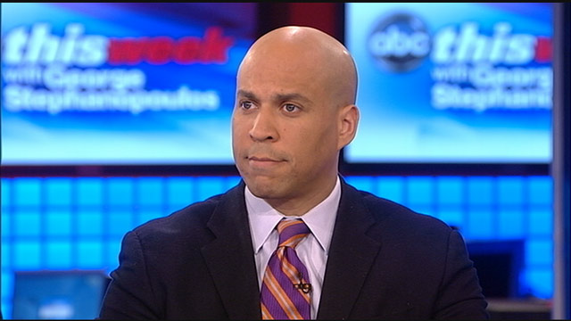 PHOTO: Newark, New Jersey Mayor Cory Booker (D) on 'This Week'