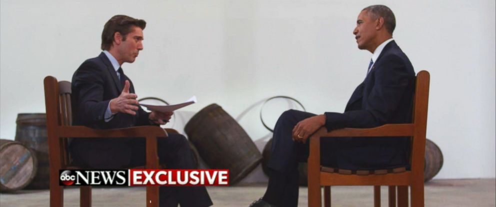 """PHOTO: President Obama tells ABC News anchor David Muir in Havana, Cuba that American political leaders should not """"trumpet violence"""" in the 2016 campaign."""