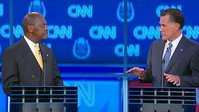 VIDEO: Mitt Romney attacks Herman Cain's 9-9-9 tax plan.