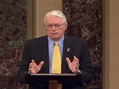 Video of Senator Jim Bunning on unemployment benefits.