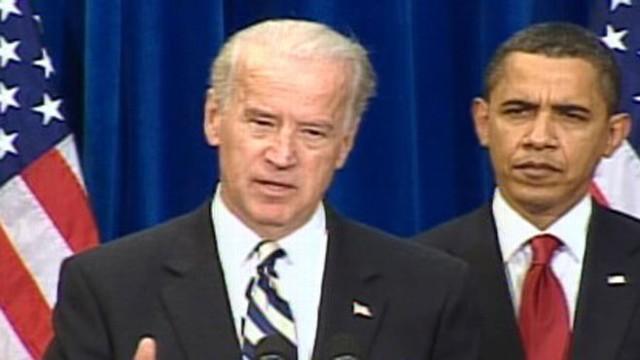 VIDEO: Vice President Joe Biden mispronounces company name Namaste in Denver, Colorado.