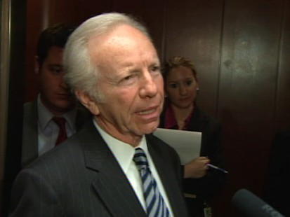 Video of Senator Joe Lieberman talking about Medicare in health care bill.