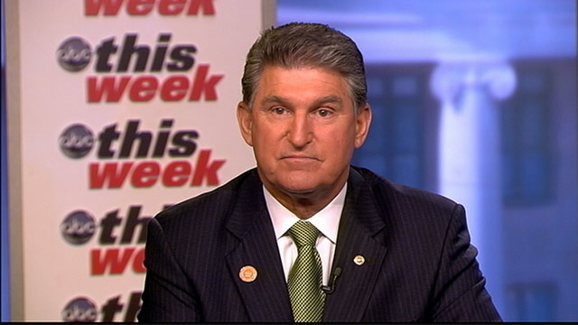 PHOTO: No Labels Honorary Chair Senator Joe Manchin (D) West Virginia on This Week