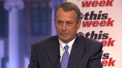 PHOTO: ABC News' Martha Raddatz interviews House Speaker John Boehner