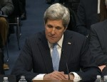 PHOTO: Sen. John Kerry testifies on Capitol Hill in Washington, Jan. 24, 2013, during his confirmation hearing.