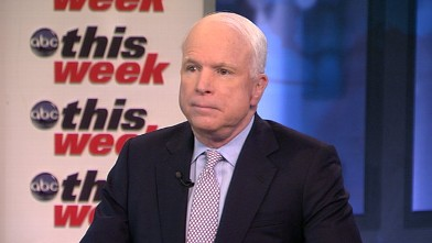 PHOTO: Senator John McCain (R) Arizona on 'This Week'