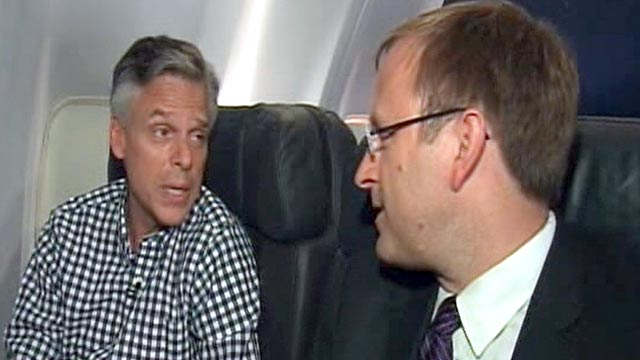 PHOTO: Jonathan Karls interview with Jon Huntsman.