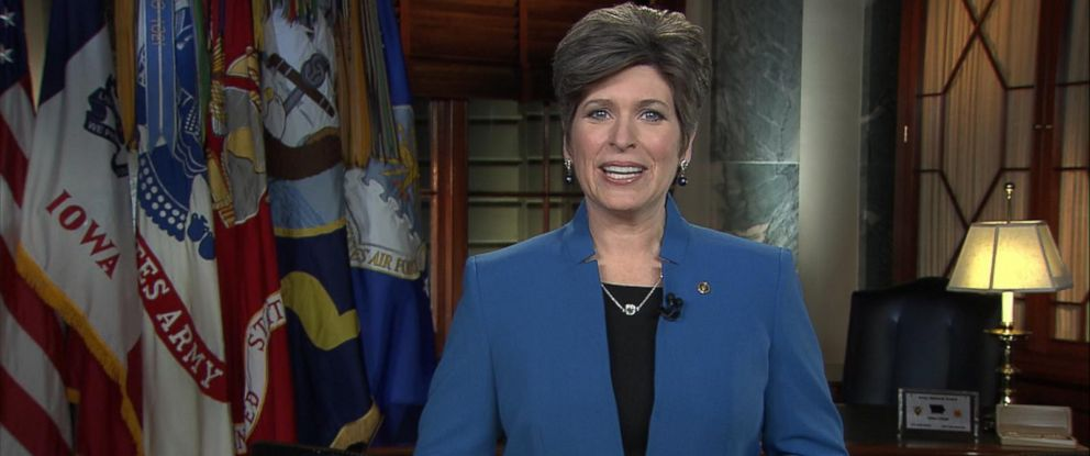 PHOTO: Iowa Senator Joni Ernst gives the Republican response following the State of the Union, Jan. 20, 2015 in Washington.