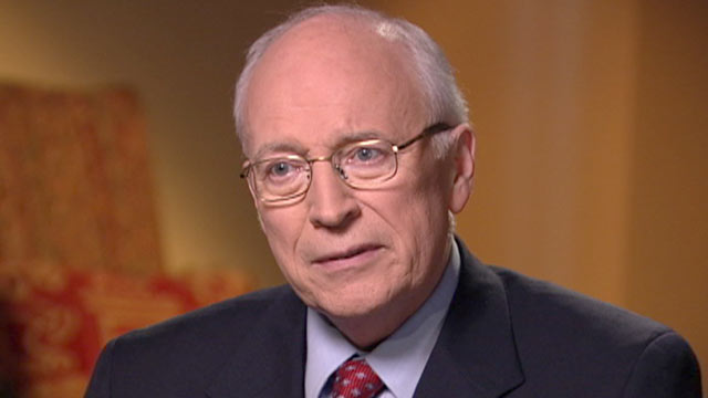 PHOTO: Jonathan Karl interviews former Vice President Dick Cheney.