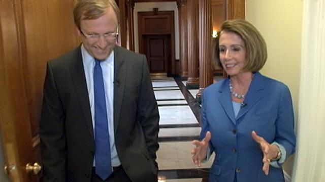 PHOTO:Jon Karl interviews Nancy Pelosi