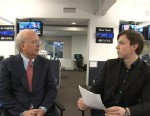 "PHOTO: Former Bush deputy chief of staff Karl Rove answers viewers Facebook questions on ""This Week."""