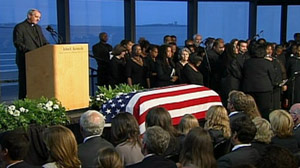 Prayer during the memorial service for Senator Edward Kennedy.