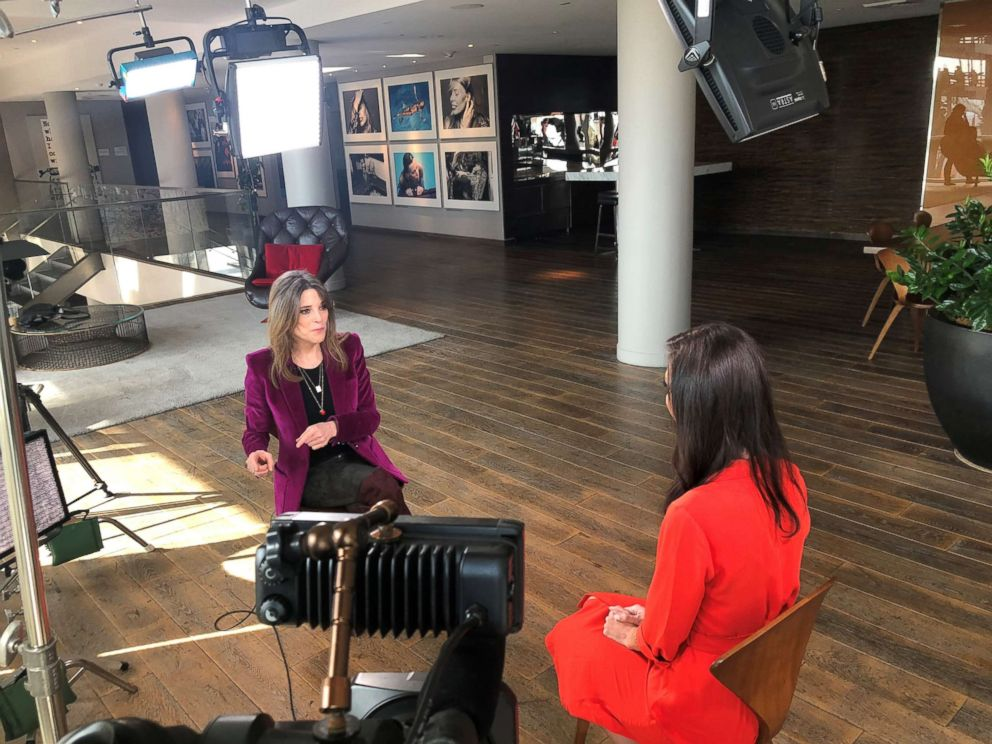 Marianne Williamson is seen here during an interview with ABC News Marci Gonzalez for Nightline.