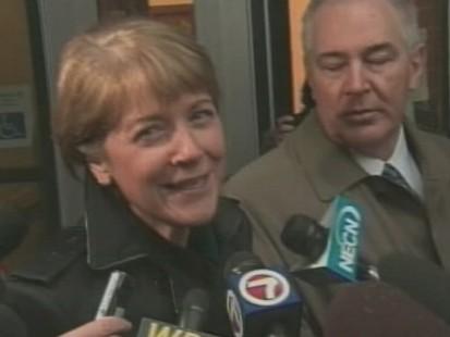 Video of Democrat Martha Coaxley at the polls in Massachusetts.