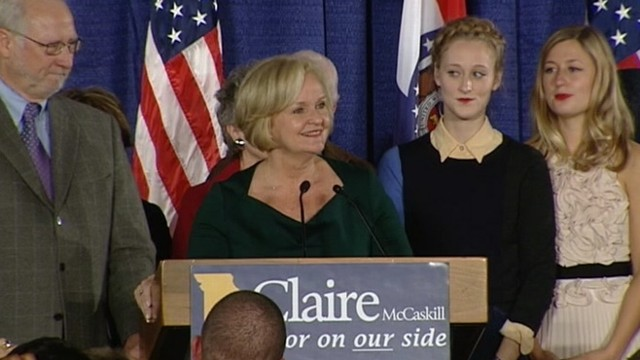 VIDEO: Democrat defeats Republican Todd Akin in her re-election race.