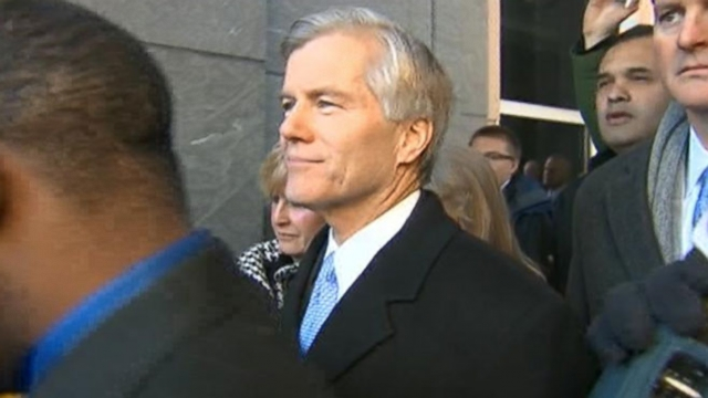 McDonnell Prays and Blows a Kiss Before Pleading 'Not Guilty'