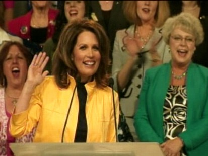 Video of Rep. Michele Bachmann, R-Minn., on the stump with guest star Sarah Palin.