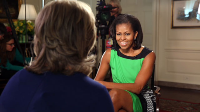"PHOTO: ""Nightline"" anchor Cynthia McFadden sat down with First Lady Michelle Obama for an interview at the White House."