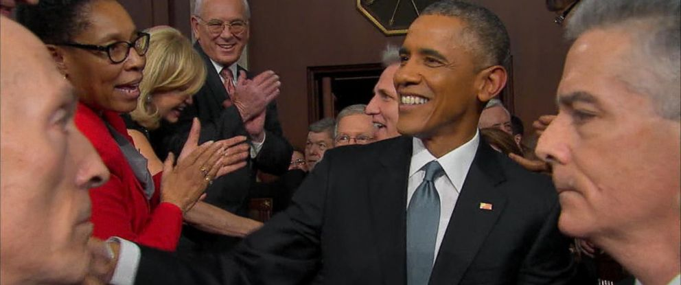 PHOTO: President Obama enters the US Capitol before the State of the Union, Jan. 20, 2015.