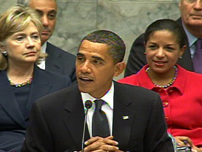 Video of President Obama pushing his goal of a nuke free world during a UN Security Council meeting.